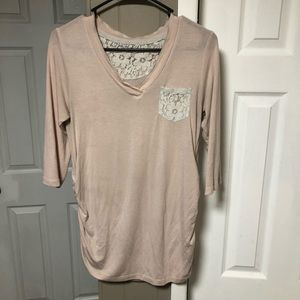 Tops - Blush Pink Maternity Shirt